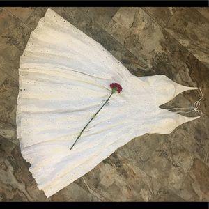 Womens white eye lace dress